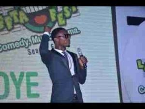 """Video: I Go Die Explains """"Blue Film"""" and S*x Moves At Glo Naija Comedy 2017"""